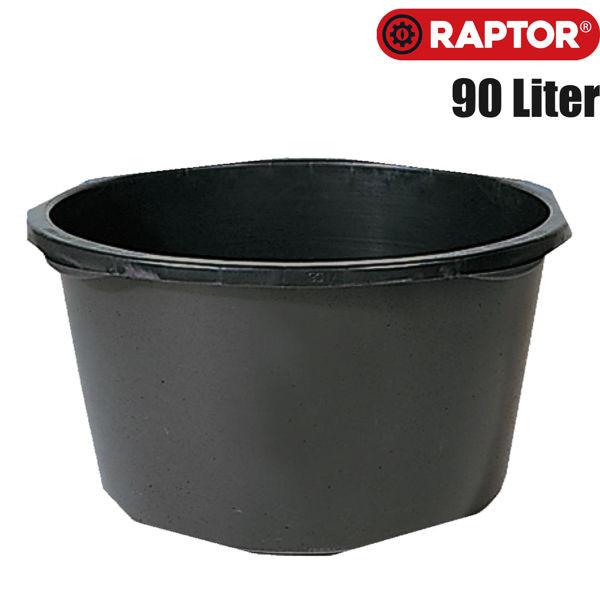 Mörtelkübel schwarz 90 Liter von RAPTOR