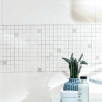 Up Weiß Mosaik 30 x 30 (2,5 x 2,5) Rektifiziert