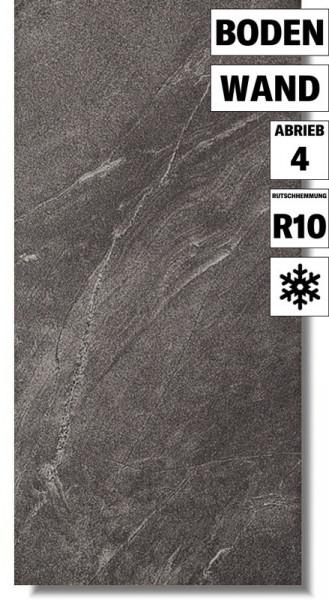 Natursteinoptik Fliese Arigato Graphite von Meissen Keramik