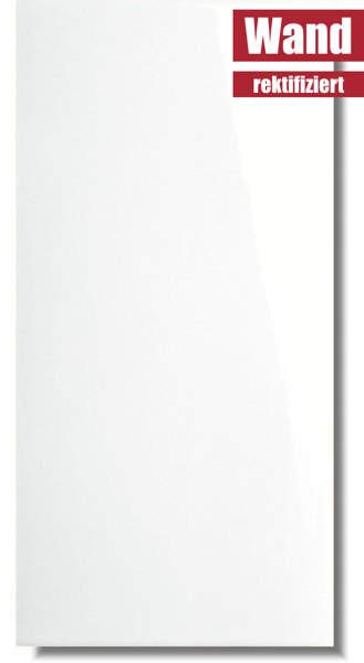 weiße Wandfliese Ice Super glänzend rektifiziert von Meissen