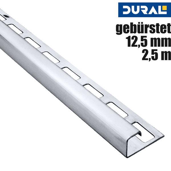 Fliesen Quadratprofil Edelstahl Gebürstet von DURAL