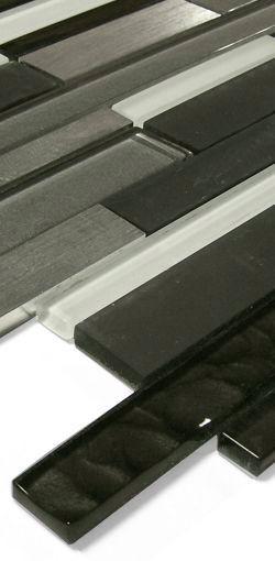 Glas-Metall Mosaik LAG129 Schwarz