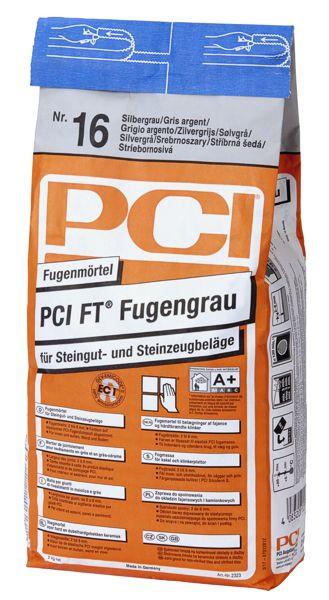 PCI FT Fugengrau 2323 Fugenmörtel Farbe 16 Silbergrau 5 kg