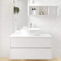 Soft Romantic Dekor Welle weiß strukturiert 30 x 60 OP564-002-01