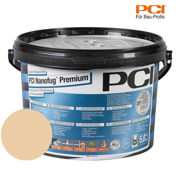 PCI Nanofug Premium ocker Fugenmörtel 5 kg