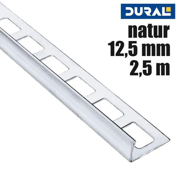 DURAL Classic CL 1270 Fliesen Winkelprofil Edelstahl V2A Natur 12,5 mm 2,5 m