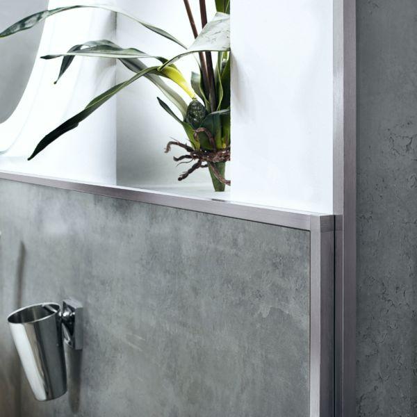 DURAL Squareline DPSA 962-SF Quadratprofil Aluminium Silber Gebürstet 9 mm 2,5 m