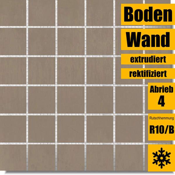 Interbau Murano Achat braun Mosaik 30 x 30 753030390 rektifiziert