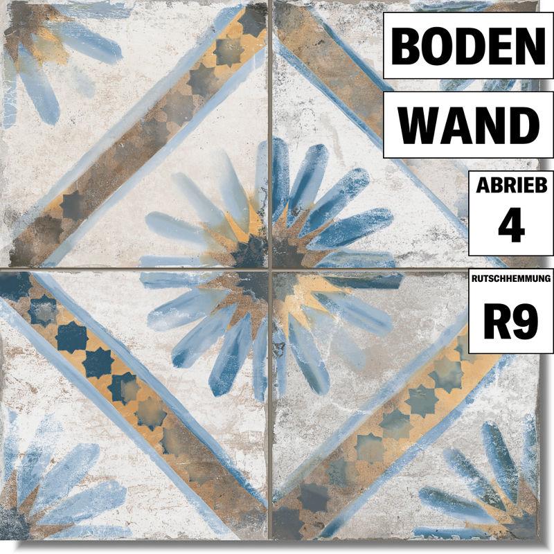 Fliesen discount bodenfliese fs marrakech blue von for Fliesen discount