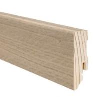 HARO Sockelleiste Eiche sandgrau furniert geölt 16 x 58 x 2700 mm