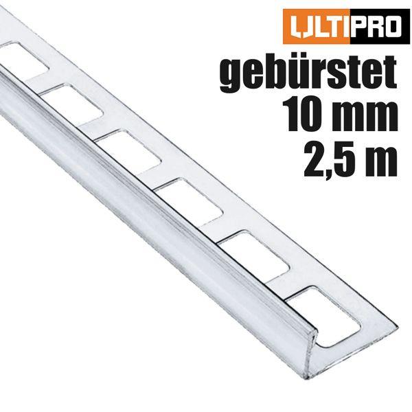 ULTIPRO Winkelprofil Edelstahl V2A Feinschliff 10 mm 2,5 m