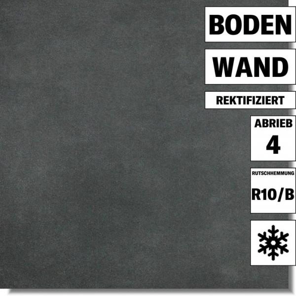 Bodenfliese Extra schwarz DAR63725 von Lasselsberger für Küche und Bad