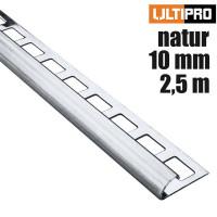 ULTIPRO Rundprofil Edelstahl Natur 10 mm 2,5 m