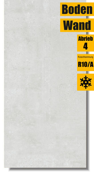 Bodenfliese Fabbrica white für Wand und Boden
