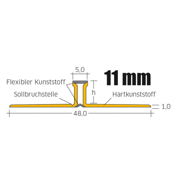 Blanke FLOOREX Dehnfugen Profil 11 mm 2,5 m