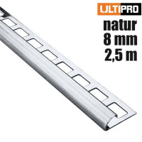 ULTIPRO Rundprofil Edelstahl Natur 8 mm 2,5 m