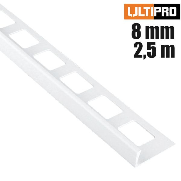 ULTIPRO Winkelprofil PVC Weiß 8 mm 2,5 m