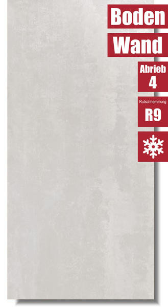 Betonoptik Fliese Ionic White für Wand und Boden