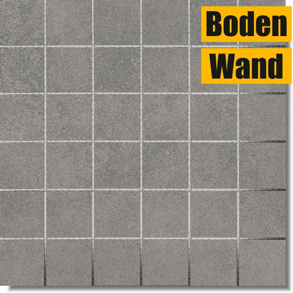 Luna Cool Grey grau Mosaik 30 x 30 rektifiziert