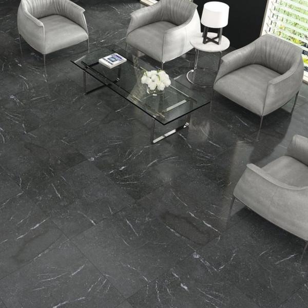 Doire Black Glänzend 80 x 80 Rektifiziert