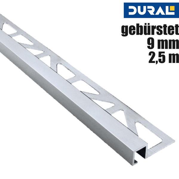 Fliesen Quadratprofil Aluminium Silber Gebürstet von DURAL