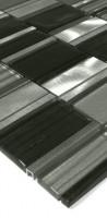Glas-Metall Mosaik LAGS85 Schwarz