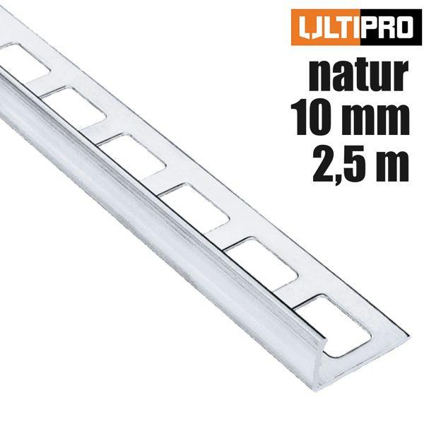 ULTIPRO Winkelprofil Alu Natur 10 mm 2,5 m