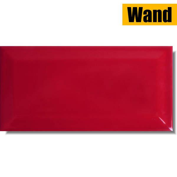 Fliese Metro Facette Tango Red rot 10 x 20