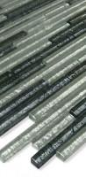 Glasmosaik LADP42 Silber Schwarz