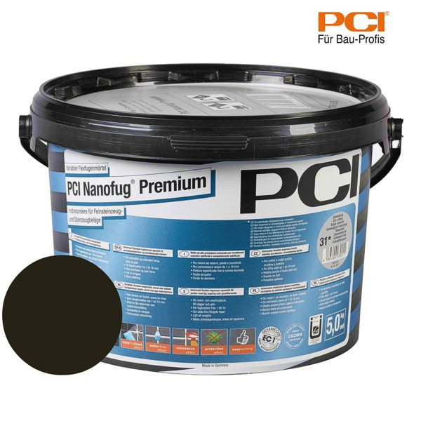 PCI Nanofug Premium schwarzbraun Fugenmörtel 5 kg