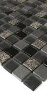 Glas-Schiefer-Dekor Mosaik LABS03 Black
