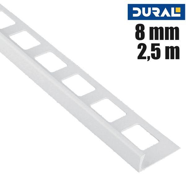 DURAL Classic CL 819 Fliesen Winkelprofil PVC Silbergrau 8 mm 2,5 m