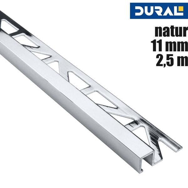 Fliesen Quadratprofil Aluminium Natur Eloxiert von DURAL
