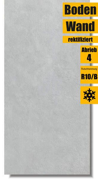 rektifizierte Fliese Extra hellgrau DARV1723 von Lasselsberger