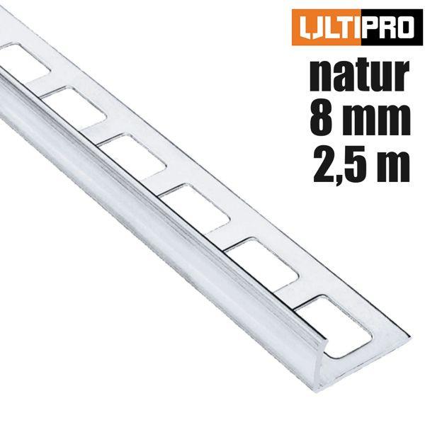ULTIPRO Winkelprofil Alu Natur 8 mm 2,5 m