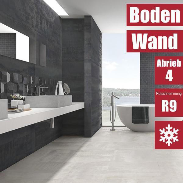 Fliese Ionic Steel schwarz 30 x 60 von Ibero Porcelanico
