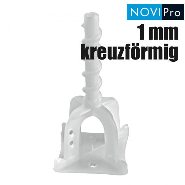 NOVIPro Nivelliersystem PRSC 1 mm kreuzförmig 100 Stück
