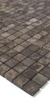 Natursteinmosaik SGB-3 Dunkelbraun Mix