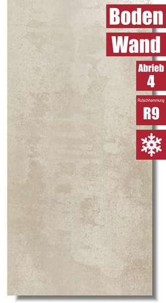 frostsicheres Feinsteinzeug Ionic Sand für innen und außen