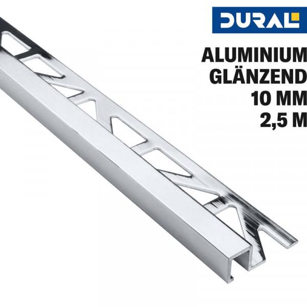 Fliesen Quadratprofil Aluminium Silber Glänzend Eloxiert von DURAL