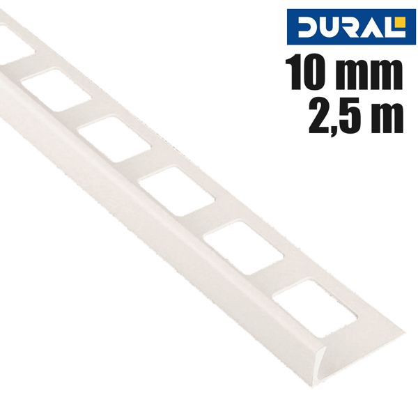DURAL Classic CL 1021 Fliesen Winkelprofil PVC Jasmin 10 mm 2,5 m