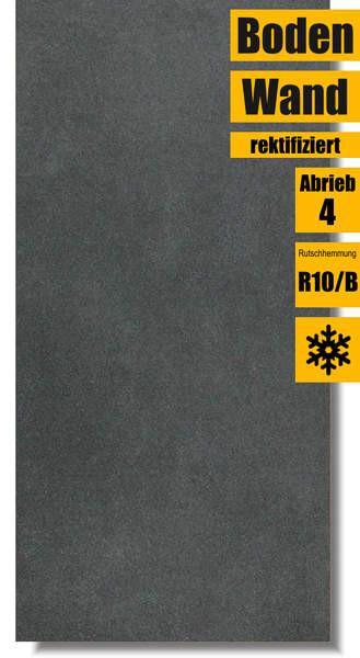 Feinsteinzeug Fliese Extra schwarz von Lasselsberger