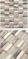 Glas-Naturstein-Mosaik SG1548-1 Beige Mix 30 x 30