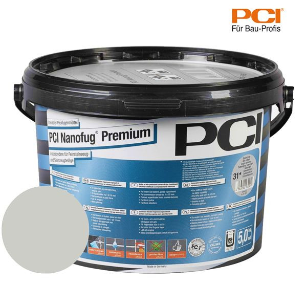 PCI Nanofug Premium hellgrau Fugenmörtel 5 kg
