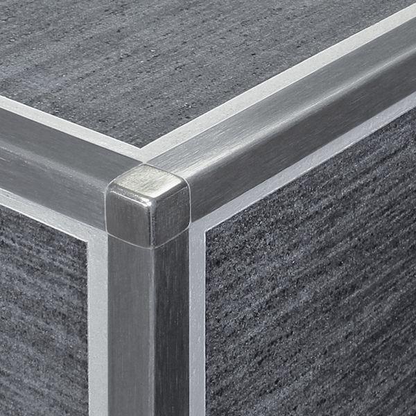 DURAL Squareline DPSE 90-SF-Y Ecke Edelstahl Gebürstet 9 mm 2 Stk./Set