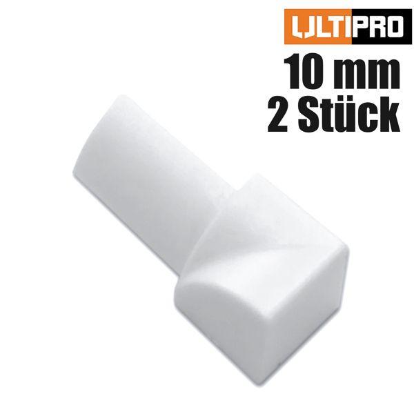ULTIPRO Rundprofil Innenecke PVC Weiß 10 mm 2 Stk./Set