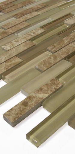 Glasmosaik gs12 ms braun mix glasmosaik mosaik for Fliesen discount