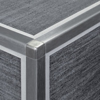 DURAL Squareline DPSE 125-SF-Y Ecke Edelstahl Gebürstet 12,5 mm 2 Stk./Set