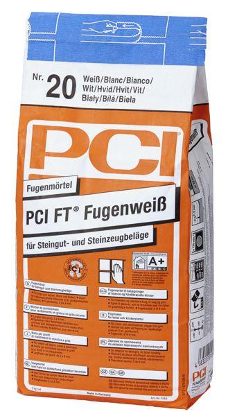 PCI FT Fugenweiß 1054 Fugenmörtel Farbe 20 Weiß 5 kg