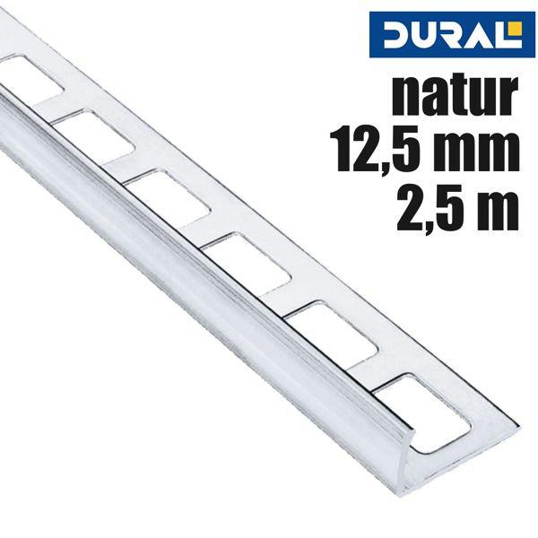 DURAL Classic CL 1250 Fliesen Winkelprofil Alu Natur 12,5 mm 2,5 m